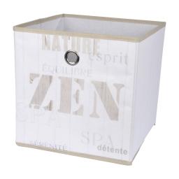 panier de rangement intissé 31cm zen wood