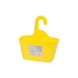 panier douche a suspendre plastique l23,5*p8*h25,5cm vitamine jaune