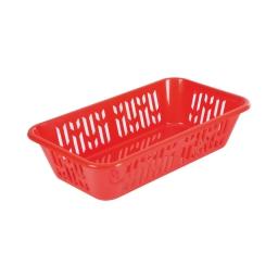 panier pain 35*20*h8cm - rouge
