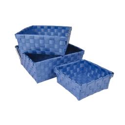 panier tressé/3  plastique bleu roi douceur d'interieur theme vitamine