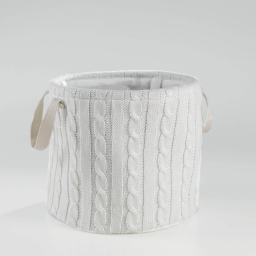 Paniere (0) 38 cm x ht 34 cm tricot lainy Naturel