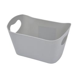 paniere rangement plastique l22.5*p14.5*h13cm vitamine gris clair