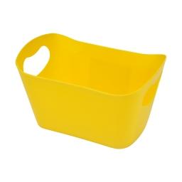 paniere rangement plastique l22.5*p14.5*h13cm vitamine jaune