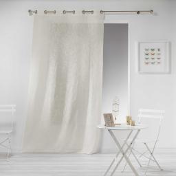 Panneau a oeillets 140 x 240 cm effet lin tisse haltona Naturel