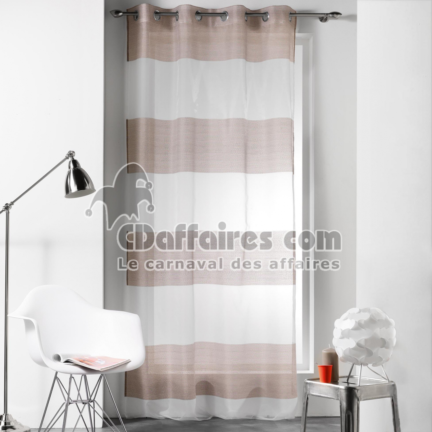 voilages en organza cdaffaires. Black Bedroom Furniture Sets. Home Design Ideas