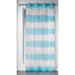 Panneau a oeillets 140 x 240 cm tisse rayures samoa Bleu