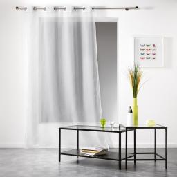 Panneau a oeillets 140 x 240 cm voile applique scintille Blanc