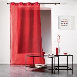 Panneau a oeillets 140 x 240 cm voile applique scintille Rouge