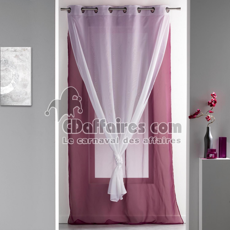 panneau a oeillets 140 x 240 cm voile double uni duni. Black Bedroom Furniture Sets. Home Design Ideas