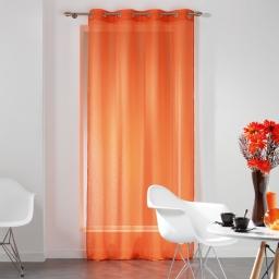 Panneau a oeillets 140 x 240 cm voile fils coupes dandy Orange