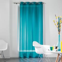 Panneau a oeillets 140 x 240 cm voile fils coupes dandy Turquoise