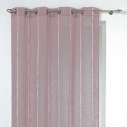 Panneau a oeillets 140 x 240 cm voile fils coupes laura Rose