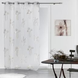 Panneau a oeillets 140 x 240 cm voile imprime bianca Argent