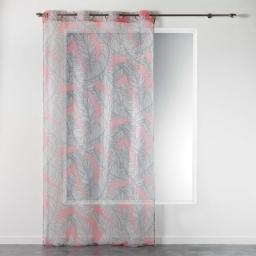 Panneau a oeillets 140 x 240 cm voile imprime transfert chic allure Corail