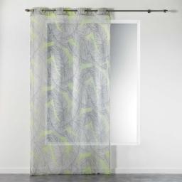 Panneau a oeillets 140 x 240 cm voile imprime transfert chic allure Jaune