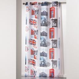 panneau a oeillets 140 x 240 cm voile imprime transfert city dog