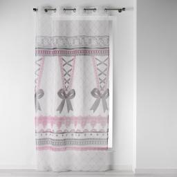 panneau a oeillets 140 x 240 cm voile imprime transfert corset