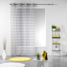 Panneau a oeillets 140 x 240 cm voile imprime transfert evy side Blanc
