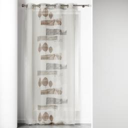 panneau a oeillets 140 x 240 cm voile imprime transfert forestier