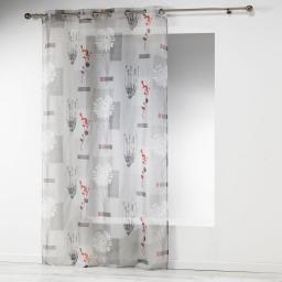 panneau a oeillets 140 x 240 cm voile imprime transfert framboisia
