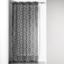 Panneau a oeillets 140 x 240 cm voile imprime transfert ikati Noir