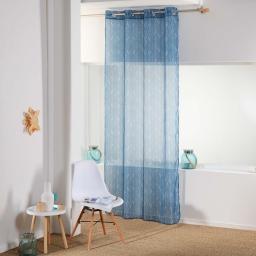 Panneau a oeillets 140 x 240 cm voile imprime transfert kessy Bleu