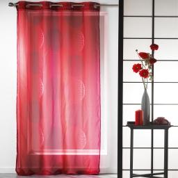 Panneau a oeillets 140 x 240 cm voile imprime transfert kosmo Rouge