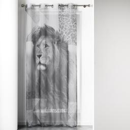panneau a oeillets 140 x 240 cm voile imprime transfert lion des. place