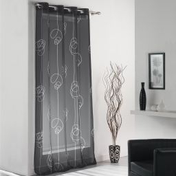 Panneau a oeillets 140 x 240 cm voile imprime transfert looping Noir