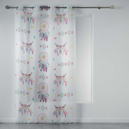 panneau a oeillets 140 x 240 cm voile imprime transfert phoenix