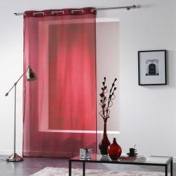 Panneau a oeillets 140 x 240 cm voile imprime transfert verona Rouge