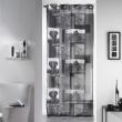 Panneau a oeillets 140 x 240 cm voile imprime transfert vie sauvage Anthracite, image n° 1