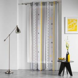 panneau a oeillets 140 x 240 cm voile imprime transfert yellow mix