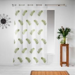 Panneau a oeillets 140 x 240 cm voile sable brode douce Vert