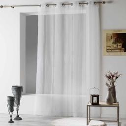 Panneau a oeillets 140 x 240 cm voile sable feliza Blanc