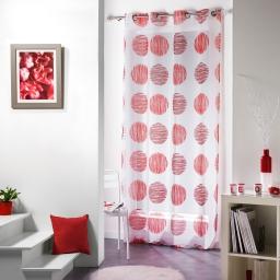 Panneau a oeillets 140 x 240 cm voile sable imprime lilune Rouge