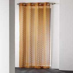 Panneau a oeillets 140 x 240 cm voile sable jacquard loopy Naturel