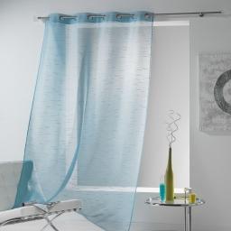 Panneau a oeillets 140 x 240 cm voile sable tilia Bleu