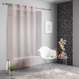 Panneau a oeillets 140 x 240 cm voile sable+top metallise starlight Rose