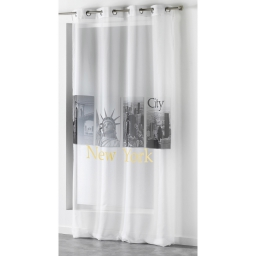 Panneau a oeillets 140 x 260 cm voile imp transfert city yellow  des place Blanc