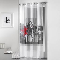Panneau a oeillets 140 x 260 cm voile imp. transfert diva  des. place Blanc/Rouge