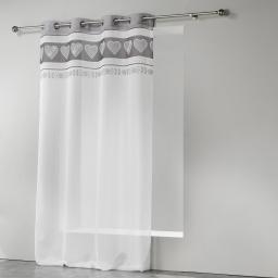 Panneau a oeillets 140 x 260 cm voile imprime transfert eline Gris