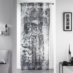 panneau a oeillets 140 x 260 cm voile imprime transfert leopard des. place