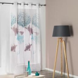 Panneau a oeillets 140 x 260 cm voile imprime transfert sweet garden Bleu