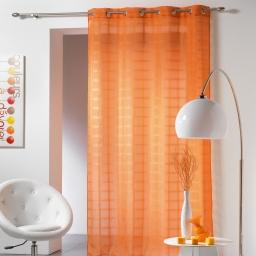 Panneau a oeillets 140 x 260 cm voile sable candide Orange