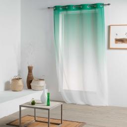 Panneau a oeillets 140 x 260 cm voile sable imprime vitalia Vert