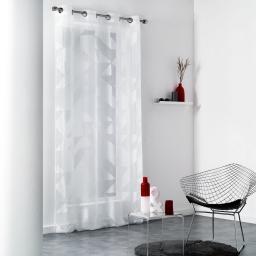 Panneau a oeillets 140 x 280 cm organza devore galbiano Blanc