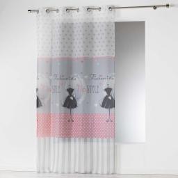 panneau a oeillets 140 x 280 cm voile imprime transfert couture
