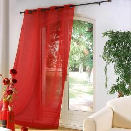 Panneau a oeillets metal 140 x 240 cm luminette unie luminea Rouge