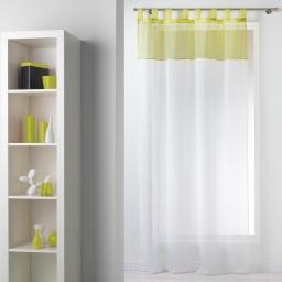 Panneau a passants 140 x 240 cm voile bicolore duo Blanc/Amande